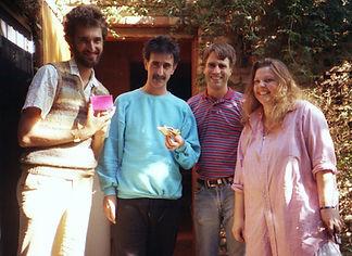 Simon Prentis with Frank Zappa