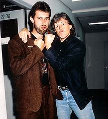 Simon Prentis with Paul McCartney