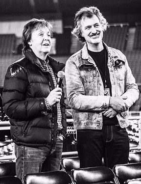 Simon Prentis with Paul McCartney