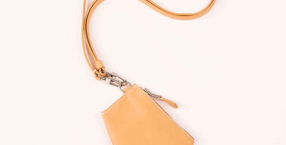 Small Pouch - Zip Micro - Natural
