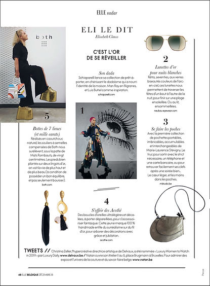MLS-MarieLaurenceStevigny in ELLE Belgiqye December 2018