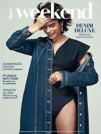 Cover: MLS-MarieLaurenceStevignu in Knack Weekend -Denim Deluxe