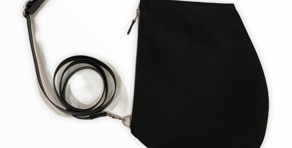 Pochette bandoulière - Zip XL -Nylon reculé