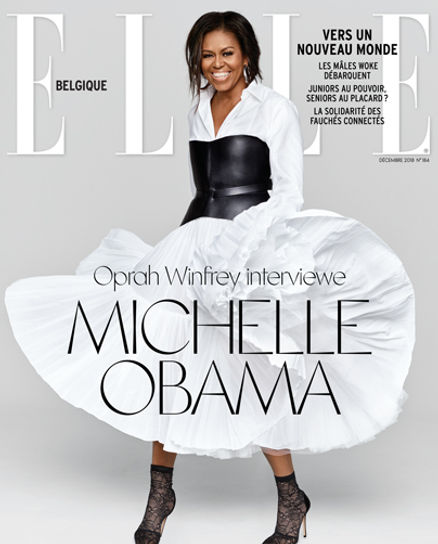 Cover: MLS-MarieLaurenceStevigny Cover Elle Belgique Decembe 2018 with Michell Obama