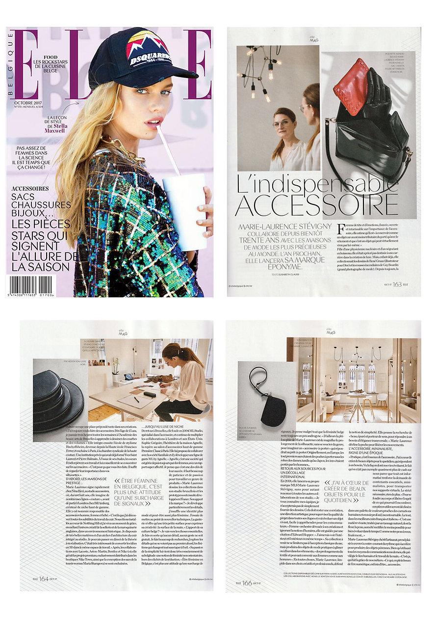 MLS-MarieLaurenceStevigny in Elle Belgique -Cover and full article