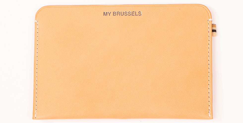 RFID wallet - Travel My Brussels - Natural