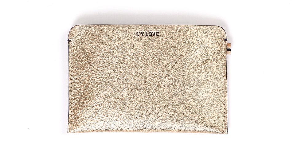 RFID wallet - Travel My Love - Gold