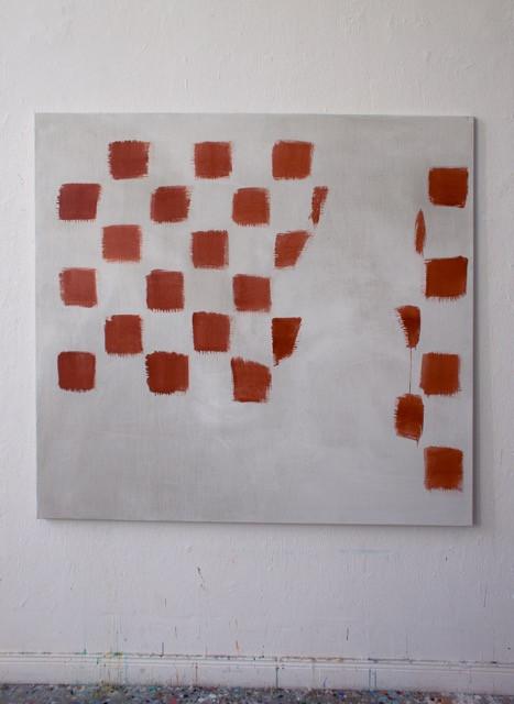 Franziska Beilfuß, Oszillation 1/1-7, acrylic on canvas, 140 x 150 cm, 2017