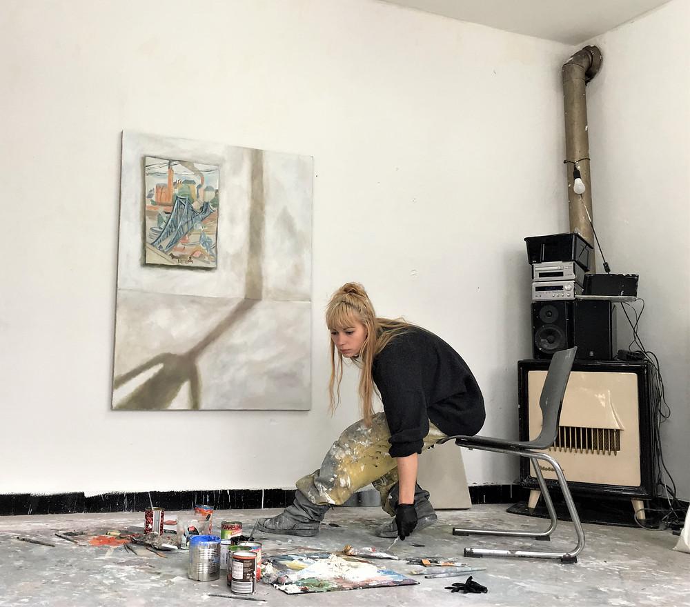 Sophie Ullrich in her studio