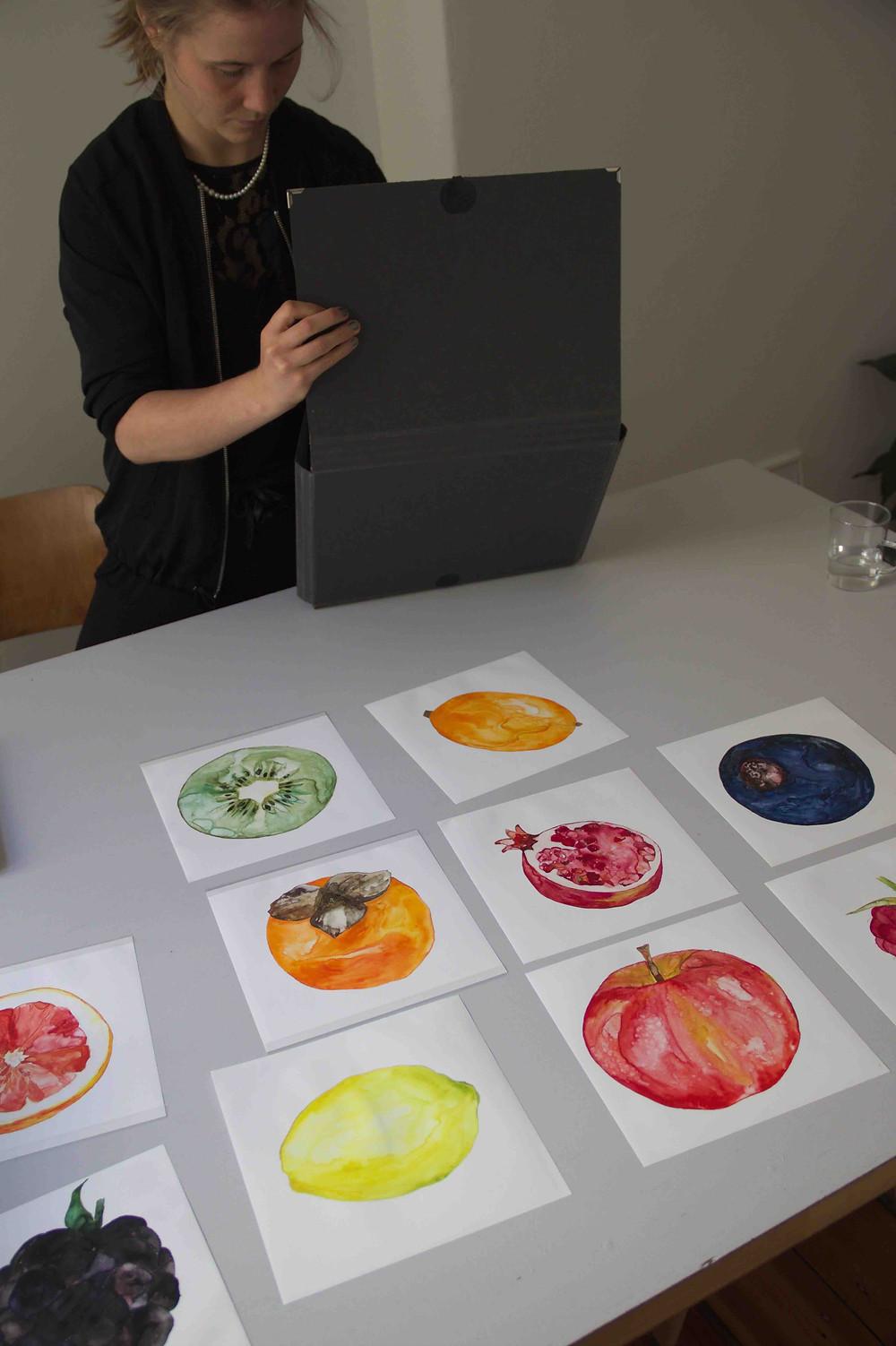 Sophie Krambrich in her studio