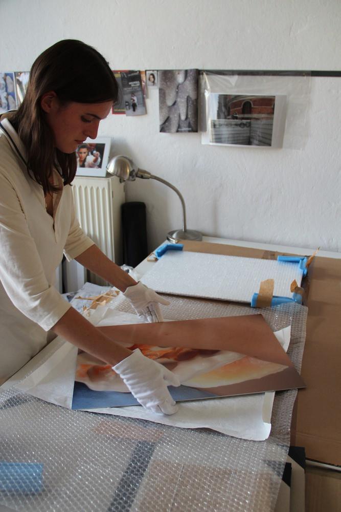 Judith Dorothea Gerke in her studio