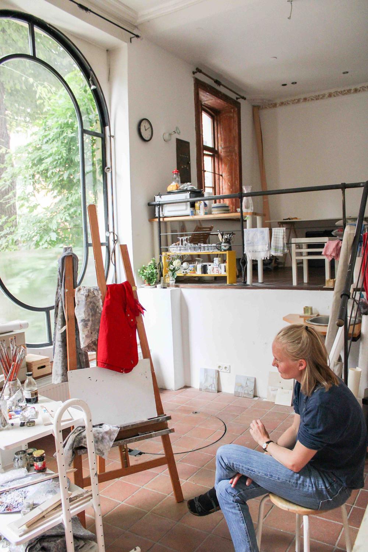 Kjersti Foyn in her studio