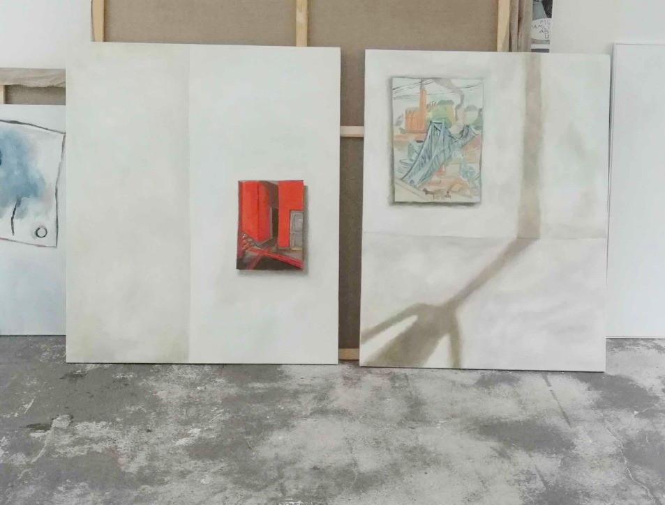Sophie Ullrich, two works in the studio
