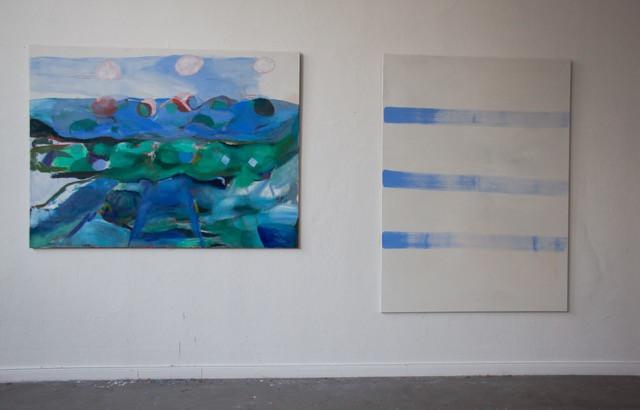 Franziska Beilfuß, two works in the studio