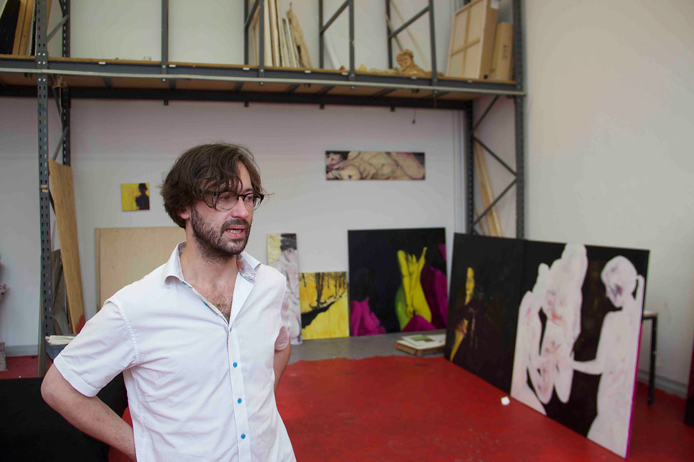 David Mildner in his studio at UdK Berlin
