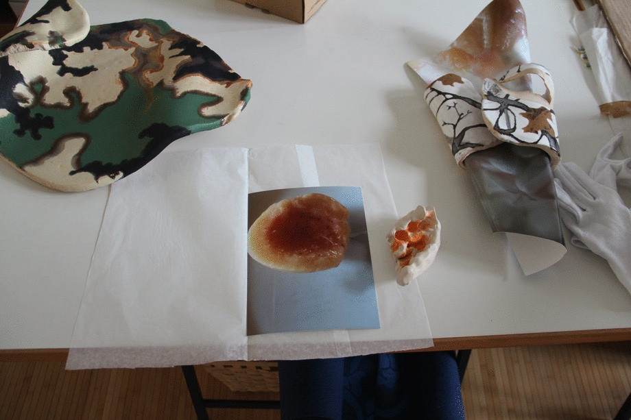works by Judith Dorothea Gerke in her studio