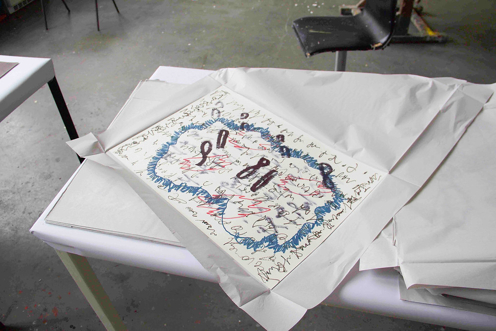 Felix Baxmann, untitled drawing in studio