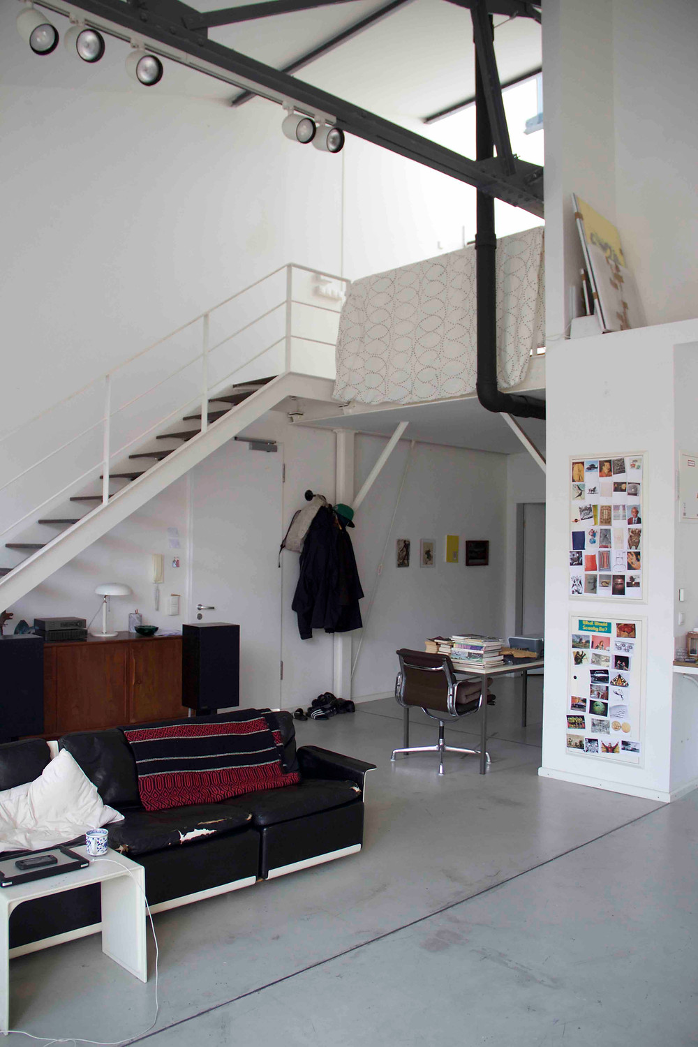 View of Jon Merz's studio with 'Image collection' on the wall
