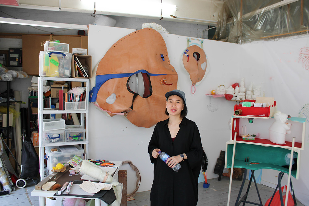 Yarli Allison in her studio in London
