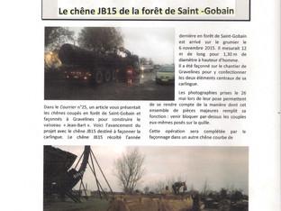 """Article du"""" Courrier de l'Association historique de Saint Gobain"""""""