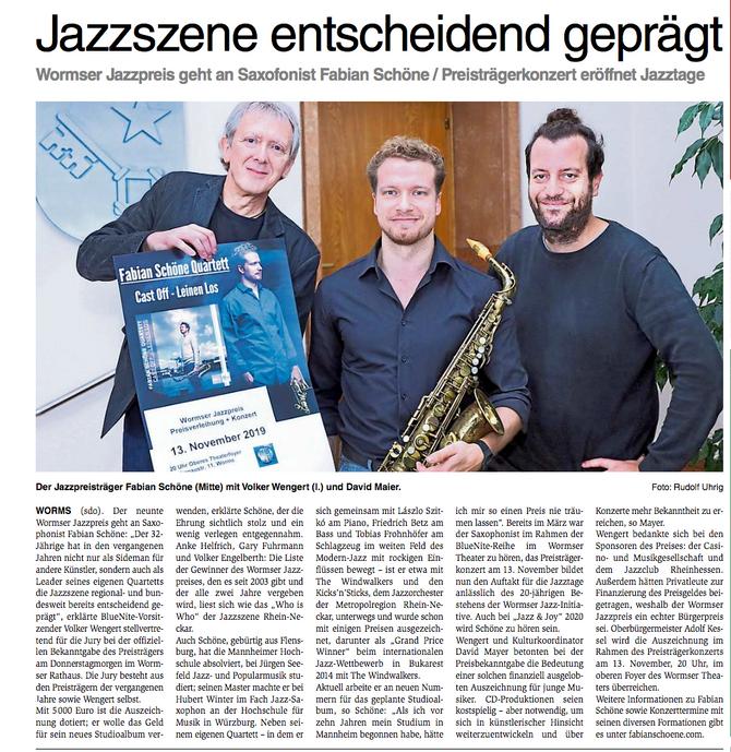Pressekonferenz Wormser Jazzpreis 2019