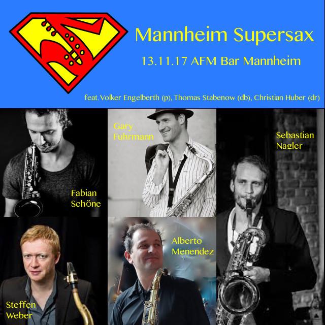 Supersax Project 13.11.17 @ AFM Bar Mannheim