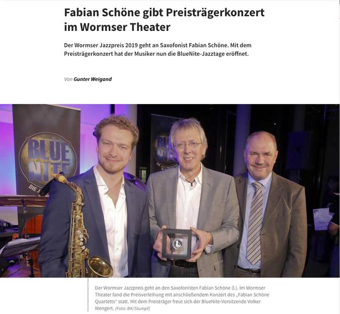Presse Preisverleihung Wormser Jazzpreis 2019