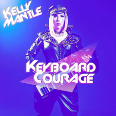 "Kelly Mantle ""Keyboard Courage"" Single Art, November 2015. Stoning and stud work by Yaz Mania."