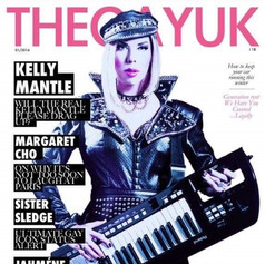 Kelly Mantle cover of The Gay UK magazine, November 2015. Stoning and stud work by Yaz Mania.