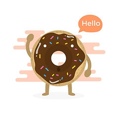 vector-flat-cute-donuts-character-with-m