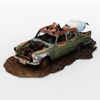 Old Wrecked Car Junk