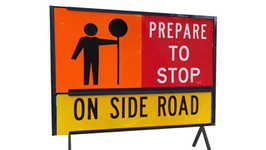 Road Works Sign Stop