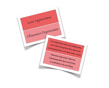 Feel Wheel Emotional Wellness Strategy Original Quote Cards