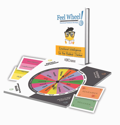 Feel Wheel Emotional Wellness Strategy Book & Game Components