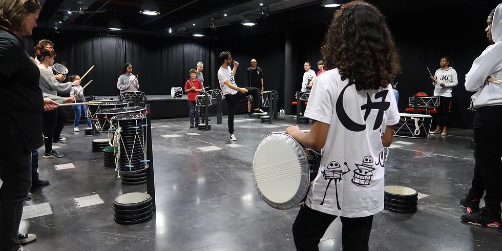 O7 Drum training session