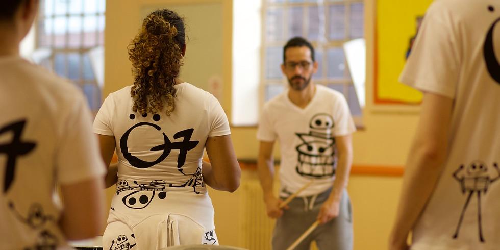 O7 Drumming training session