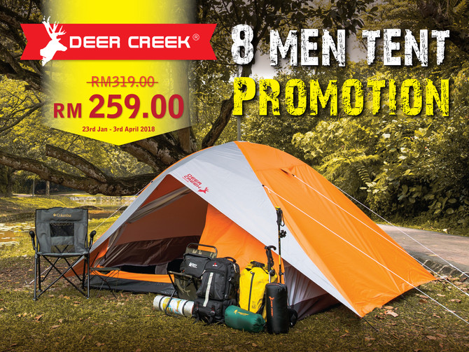 Promotions on Deer Creek's Tent
