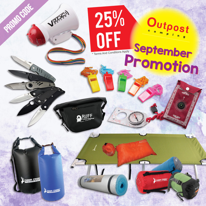 September's Promotion for Camping & Outdoor Items!