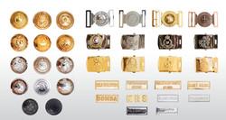 Metal Button, Metal Buckles & Metal Shoulder Titles