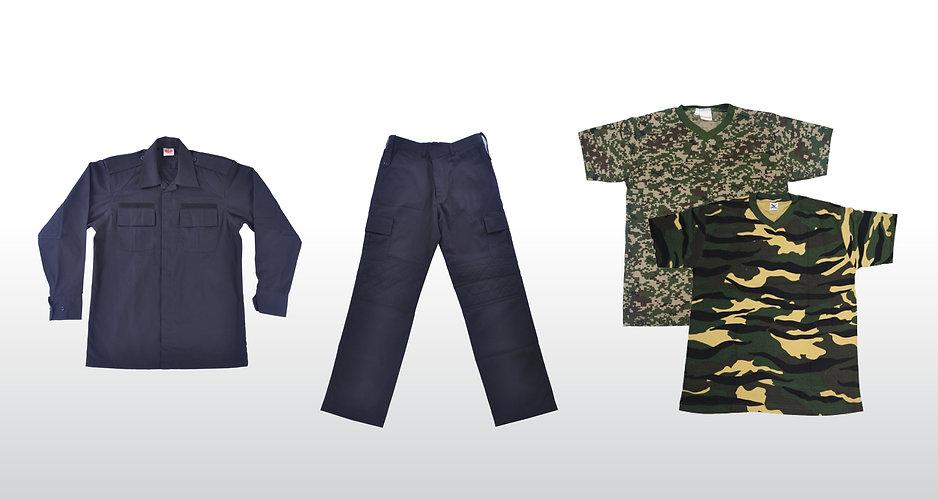 Baju Operasi, Kerja & Camo Shirt