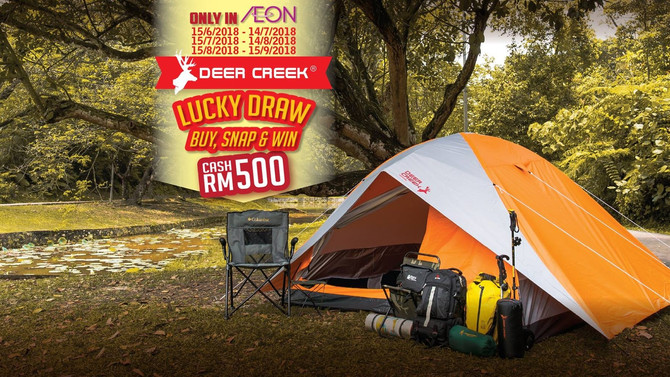 Deer Creek Contest-Buy, Snap and Win Cash RM500! Available only in Aeon.