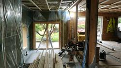 Fra byggeplass: stua