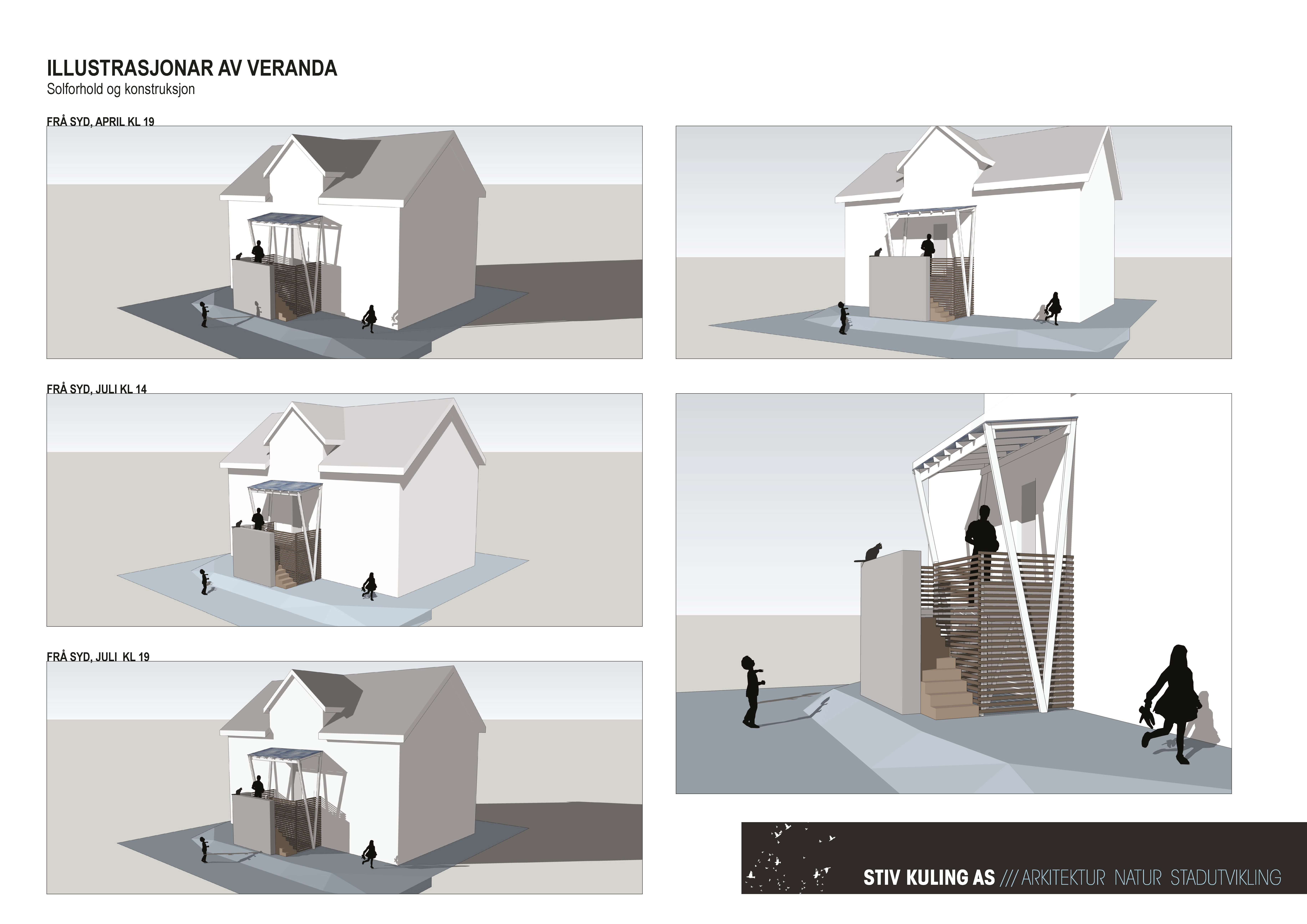 3D-illustrasjoner av ny veranda