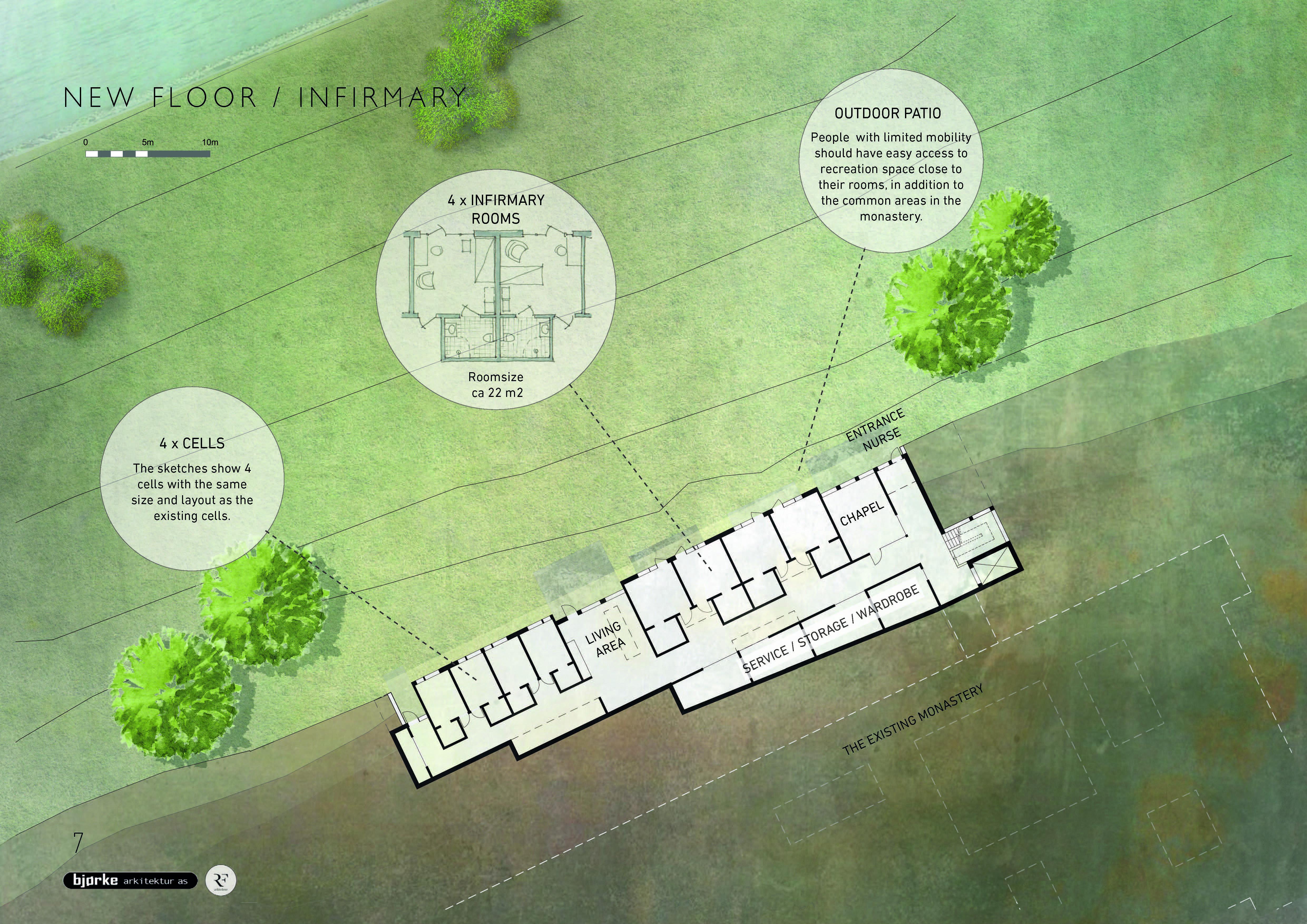 Utvidelse Tautra Mariakloster, plan