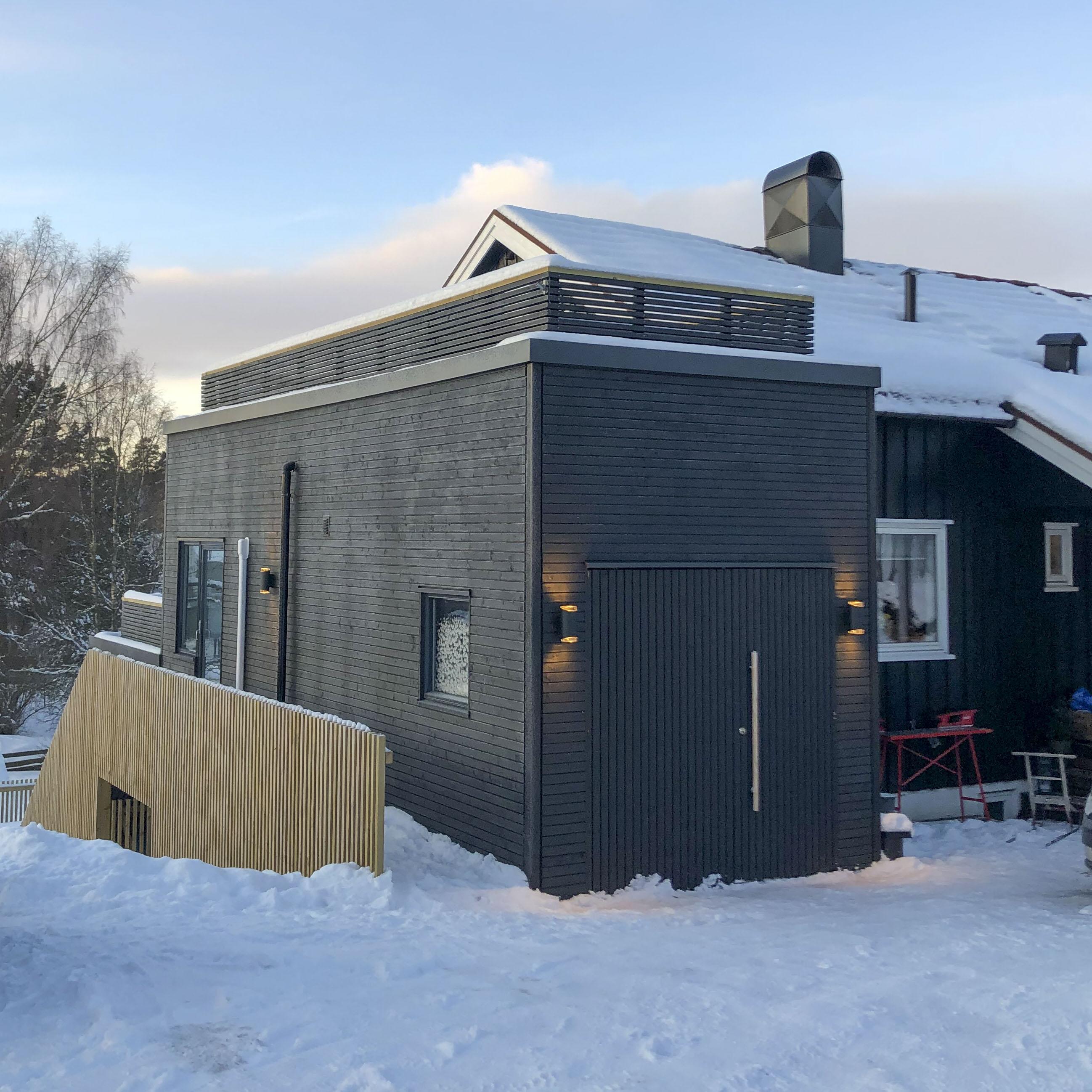Innkjørsel - etter - vinter