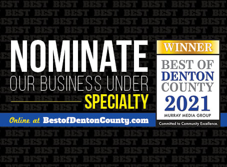 Please Nominate Edit This for Best of Denton County 2021