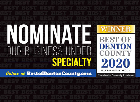 Please Nominate Edit This For Best Of Denton County 2020