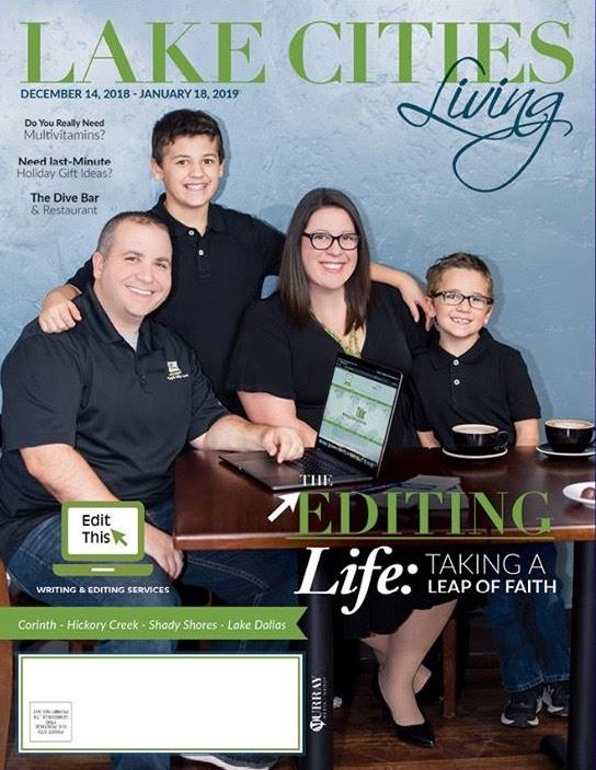 Edit This® was featured on the December 2018 cover of Lake Cities Living magazine.