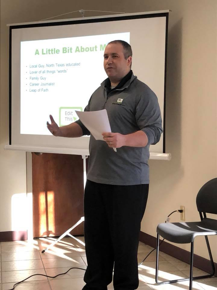 I had the chance to do some public speaking on the importance of giving your business a clear and authentic voice.