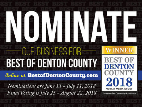Nominations are open for Best of Denton County